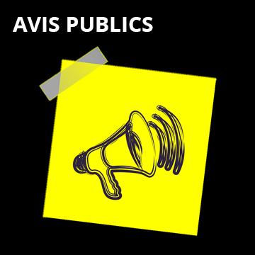 Avis public Scrutin